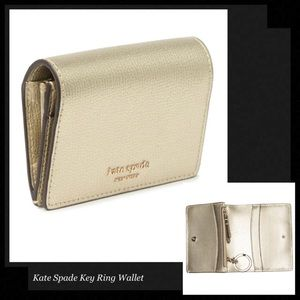 KATE SPADE Mini Key Ring Leather Wallet